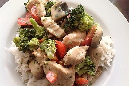 Puten-Gemüse-Pfanne mit Reis 1