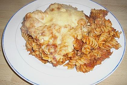 Pasta mit scharfer Tomatensoße 3