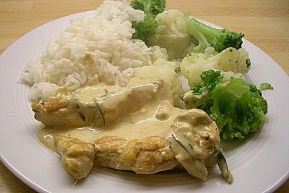 Hähnchenbrustfilet an leichter Kräutersoße 2