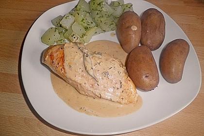 Hähnchenbrustfilet an leichter Kräutersoße 10