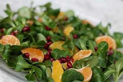 Farbenfreudiger Granatapfel - Orangen - Feldsalat 7