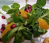 Farbenfreudiger Granatapfel - Orangen - Feldsalat (Bild)