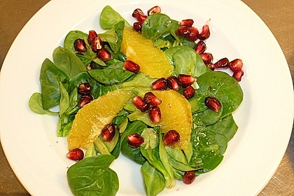 Farbenfreudiger Granatapfel - Orangen - Feldsalat 5