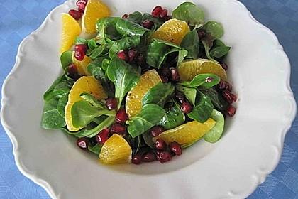 Farbenfreudiger Granatapfel - Orangen - Feldsalat 10