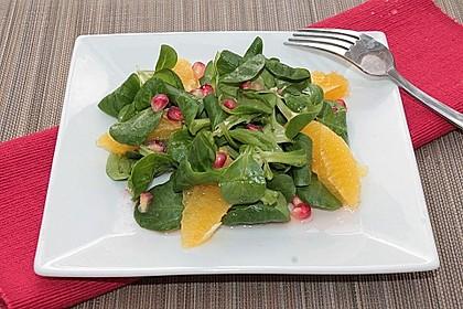 Farbenfreudiger Granatapfel - Orangen - Feldsalat 14