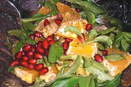 Farbenfreudiger Granatapfel - Orangen - Feldsalat 12
