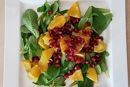 Farbenfreudiger Granatapfel - Orangen - Feldsalat 6