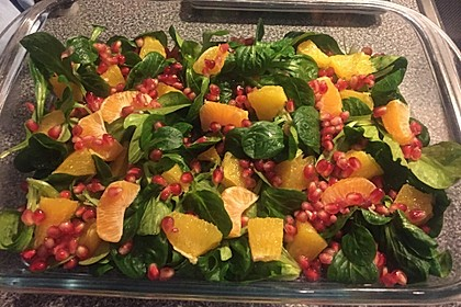 Farbenfreudiger Granatapfel - Orangen - Feldsalat 4