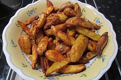 Würzige Kartoffelecken 7