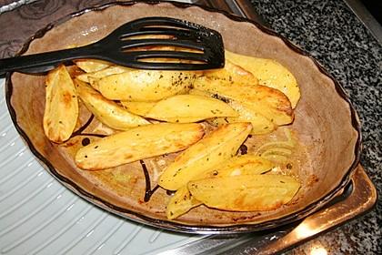 Würzige Kartoffelecken 9