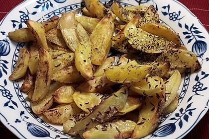 Würzige Kartoffelecken 8