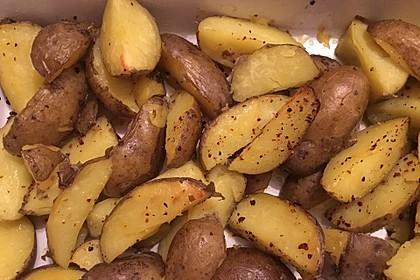 Würzige Kartoffelecken 6