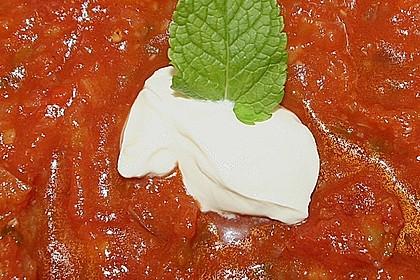 Tomaten - Ingwer - Suppe mit Minze