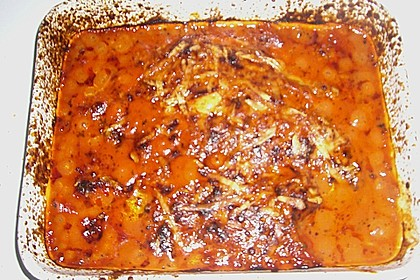 Überbackene Fischfilets in einer Kräuter - Tomatensoße 22