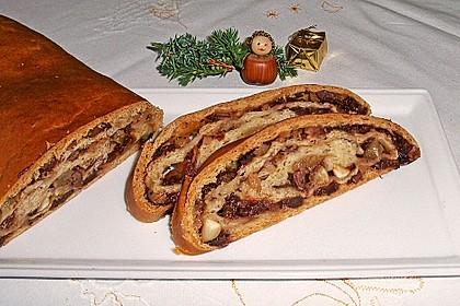 Früchte - Schokolade - Brot (Bild)