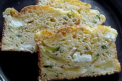 Zucchini - Feta - Kuchen (Bild)