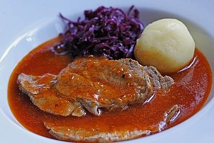 Omas  Fleisch aus der Kachel