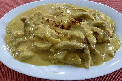 Geschnetzeltes in Erdnuss - Sauce 1