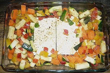 Gemüse mit Schafskäse 1