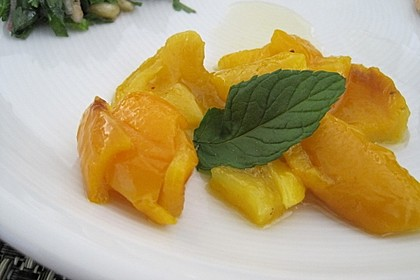 Honig-Paprika mit Minze 1