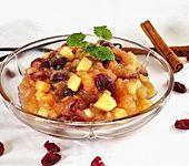 Apfelkompott mit Cranberries (Bild)