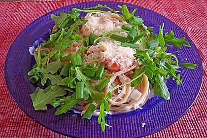 Scharfe Zitronenspaghetti mit Frischkäse und Garnelen 15