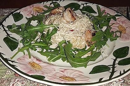 Scharfe Zitronenspaghetti mit Frischkäse und Garnelen 33