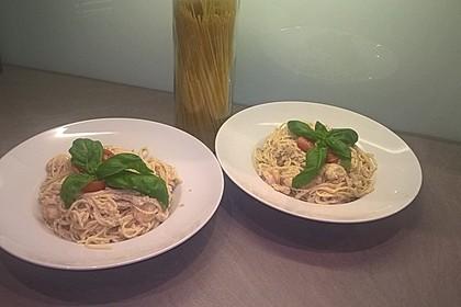 Scharfe Zitronenspaghetti mit Frischkäse und Garnelen 40