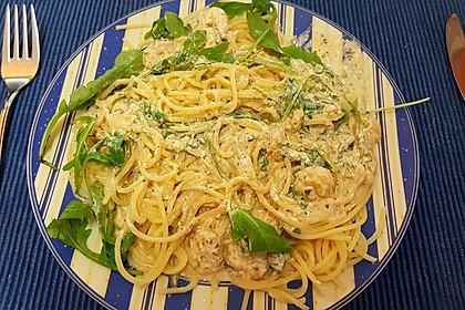 Scharfe Zitronenspaghetti mit Frischkäse und Garnelen 39