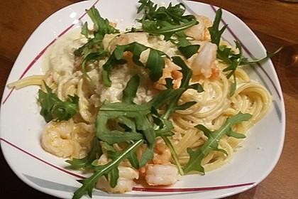 Scharfe Zitronenspaghetti mit Frischkäse und Garnelen 29