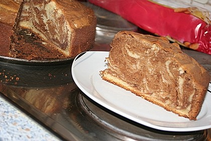 Marmorkuchen mit Mascarpone und Nougat 59