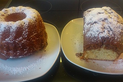 Marmorkuchen mit Mascarpone und Nougat 65