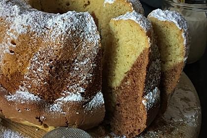 Marmorkuchen mit Mascarpone und Nougat 2