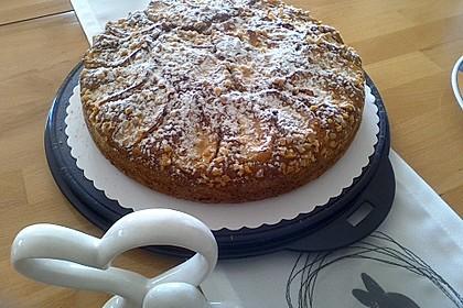 Apfelkuchen mit Puddingcreme