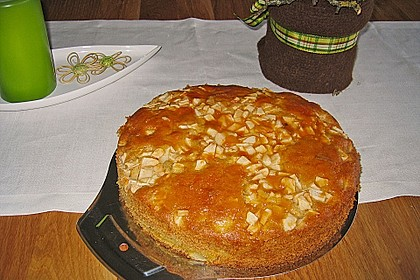 Apfelkuchen mit Puddingcreme 6