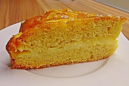 Apfelkuchen mit Puddingcreme 4
