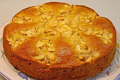 Apfelkuchen mit Puddingcreme 1