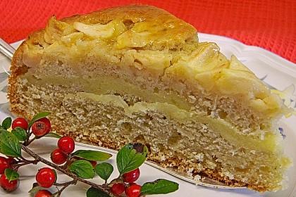 Apfelkuchen mit Puddingcreme 10
