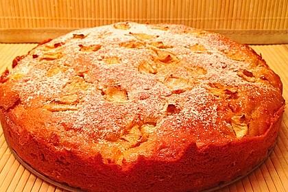 Apfelkuchen mit Puddingcreme 9