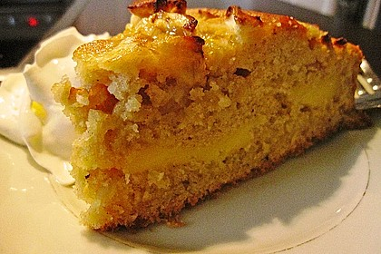 Apfelkuchen mit Puddingcreme 12