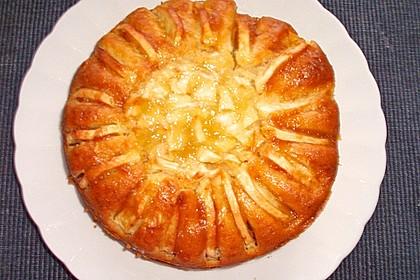 Apfelkuchen mit Puddingcreme 17
