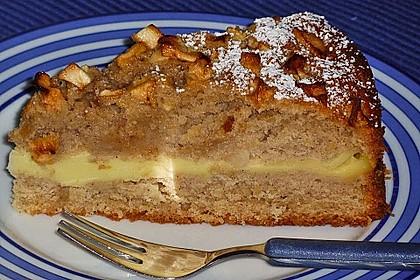 Apfelkuchen mit Puddingcreme 5
