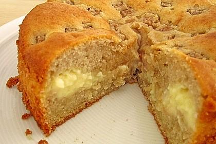 Apfelkuchen mit Puddingcreme 3