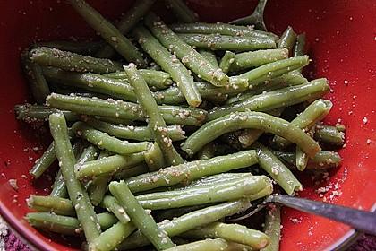 Grüne Bohnen - Salat mit Gomasio