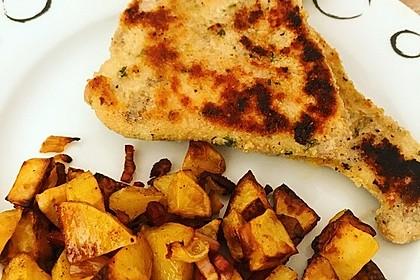 Putenschnitzel mit Kräuter-Parmesan-Panade 10