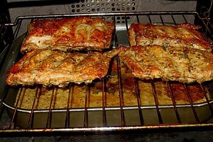 Spareribs aus dem Ofen mit Zwiebel - Honig - Knoblauch - Glasur 3