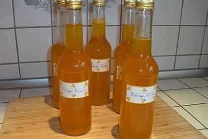 Zitronensirup und Orangensirup