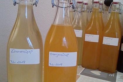 Zitronensirup und Orangensirup 1