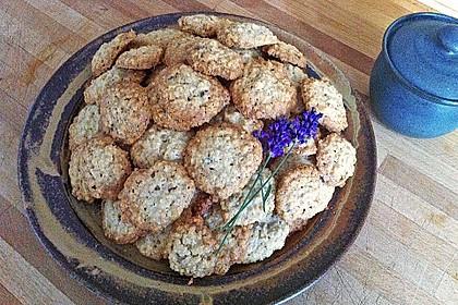 Lavendel - Haferflockenplätzchen