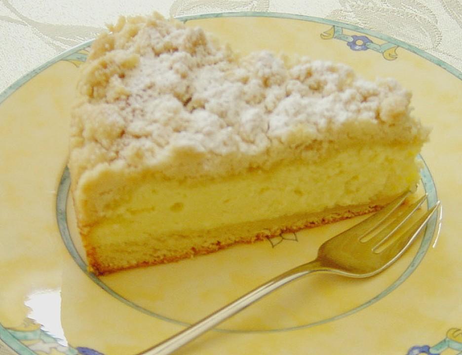 Schlesischer Quark Streusel Hefeteig Kuchen Von Brisane